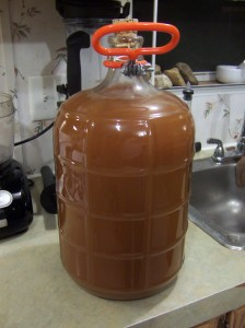 3 gallons of fresh-pressed, non-treated or processed apple cider