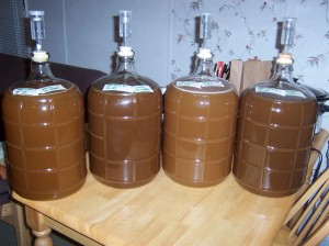 From left: Mad Trad A, Mad Trad B, Mad Trad C, Mad Trad D. Notice how the 2 chaga batches are darker.