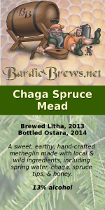 Chaga Spruce Mead label