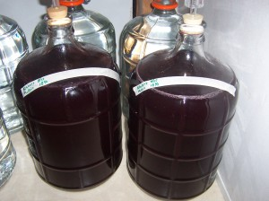 6 gallons of beautiful blueberry mead