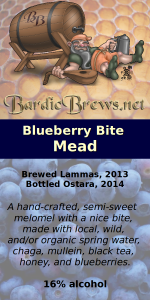 Blueberry Bite Mead label