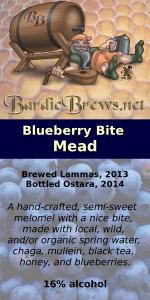 Blueberry Bite Mead label