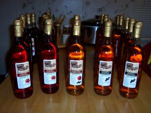 10 bottles each of Raspberry and Blackberry Harvest, and 4 extra bottles of Longest Night Blackberry Cyser.