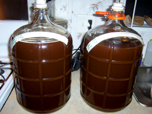 6 gallons of Spruce Mead ready for fermentation.