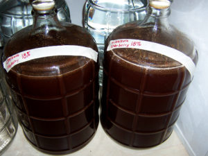 6 gallons of elderberry mead, or what will become so in due course